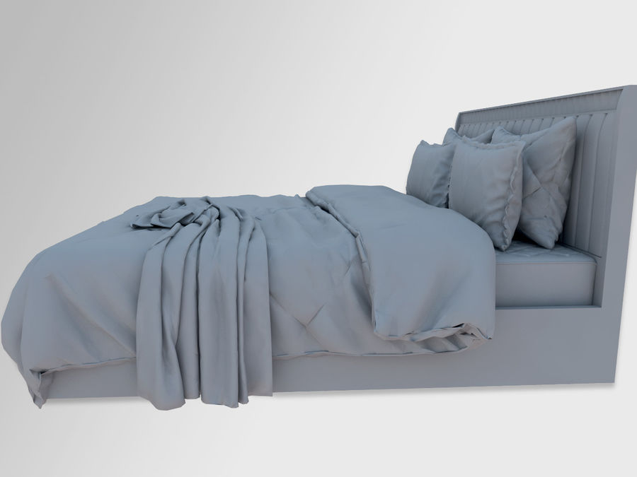 Zebra Bed royalty-free 3d model - Preview no. 5