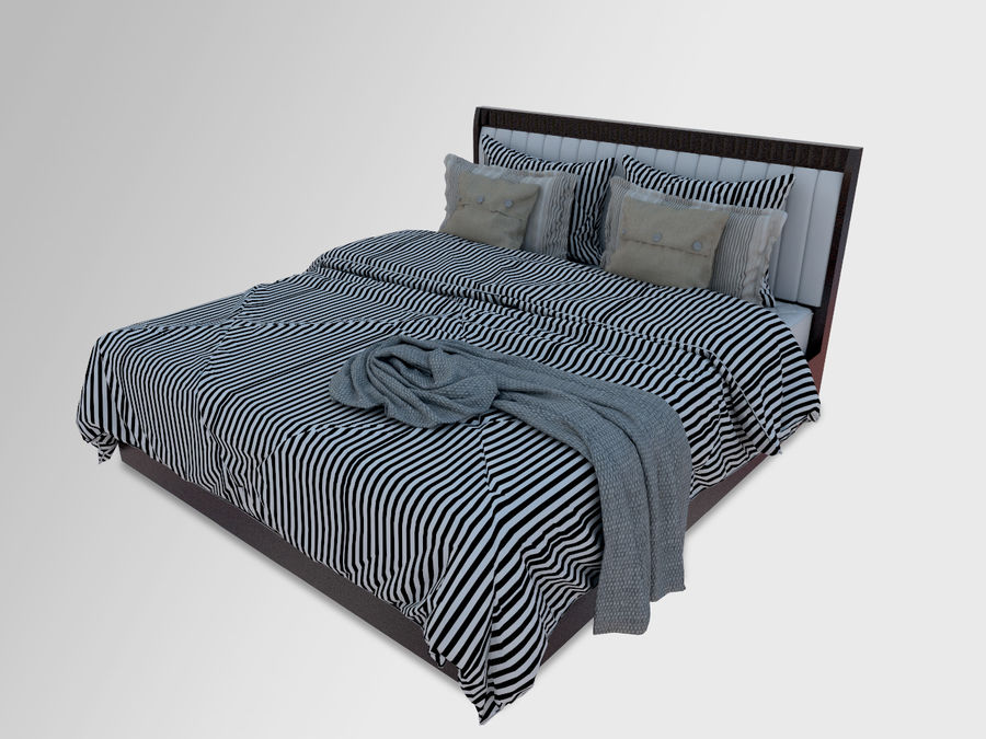 Zebra Bed royalty-free 3d model - Preview no. 1