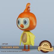 cartone animato uccello giallo 3d model