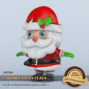 Cartoon Santa Claus 3D 3d model