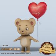 곰 만화 3d model