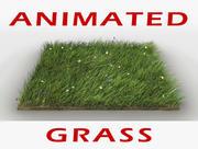 草のアニメーション 3d model