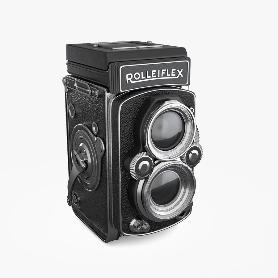 Rolleiflex-kamera stängd royalty-free 3d model - Preview no. 1