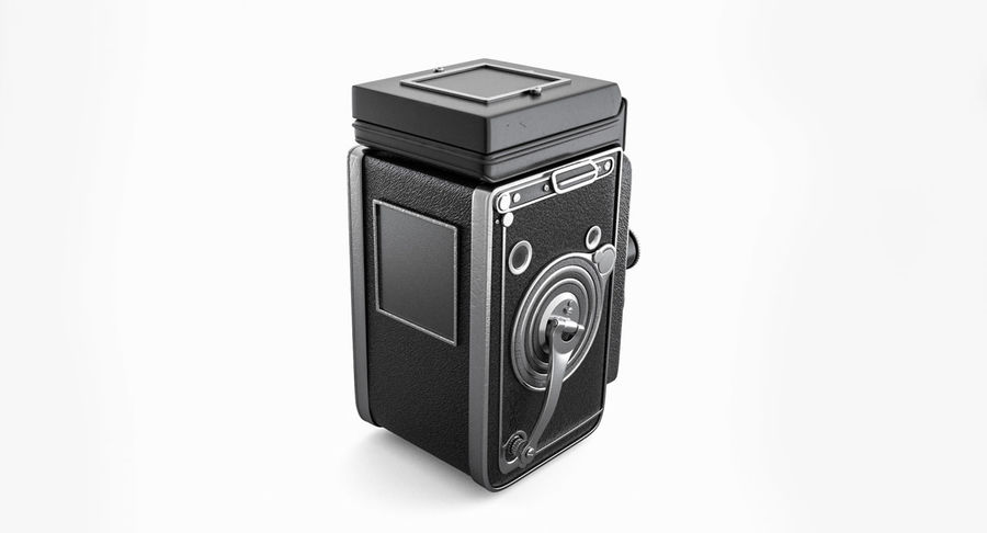 Rolleiflex-kamera stängd royalty-free 3d model - Preview no. 14