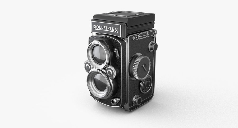 Rolleiflex-kamera stängd royalty-free 3d model - Preview no. 4