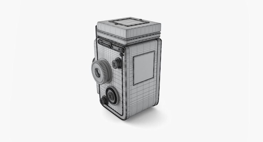 Rolleiflex-kamera stängd royalty-free 3d model - Preview no. 9