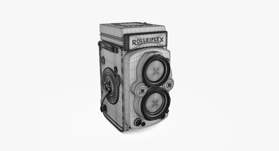 Rolleiflex-kamera stängd royalty-free 3d model - Preview no. 8