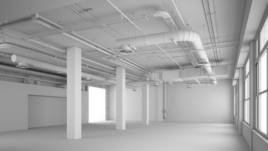 Industrial Office Interior (inga material) royalty-free 3d model - Preview no. 4