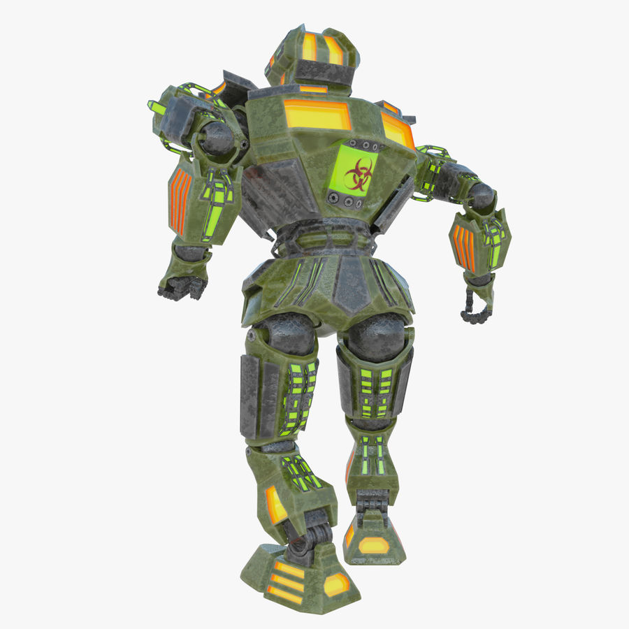 Nuclear Android royalty-free 3d model - Preview no. 4