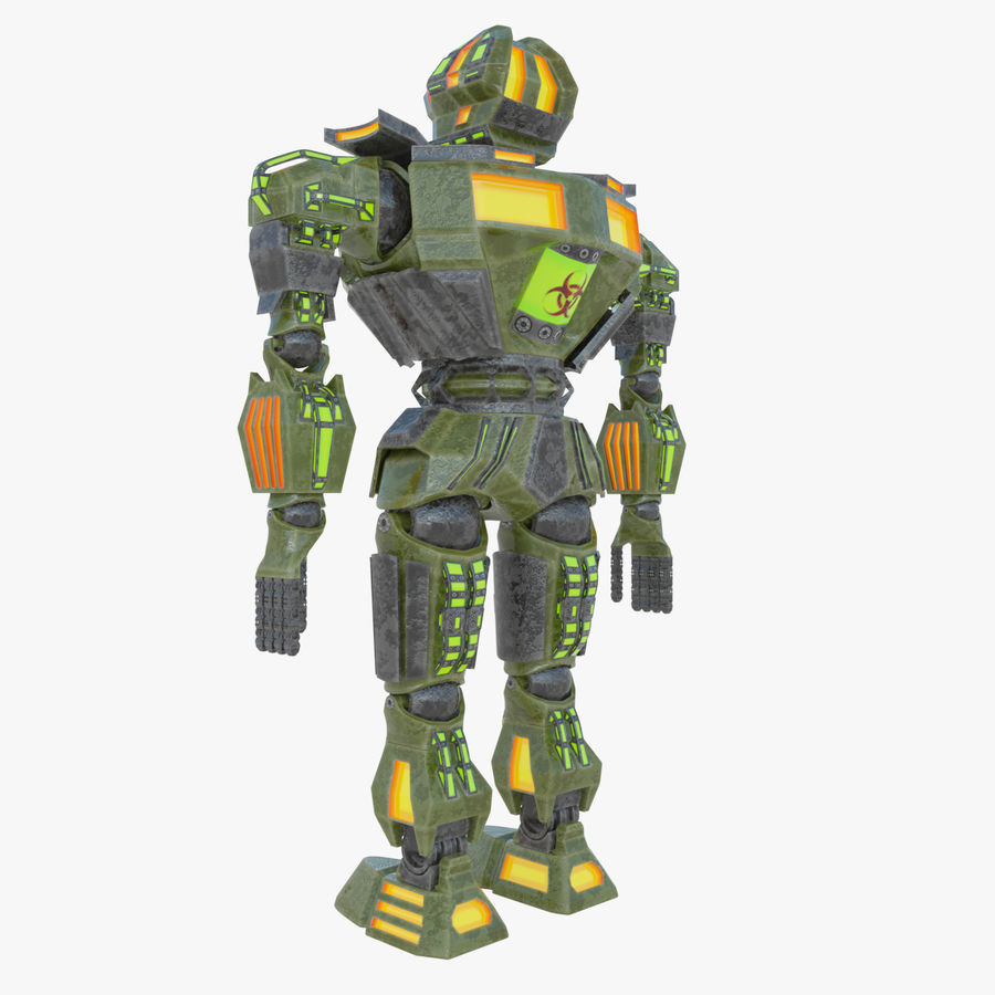 Nuclear Android royalty-free 3d model - Preview no. 9
