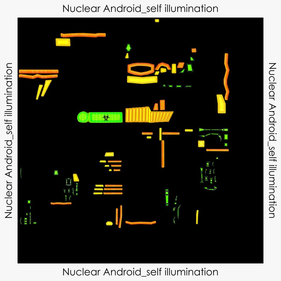 Nuclear Android royalty-free 3d model - Preview no. 19