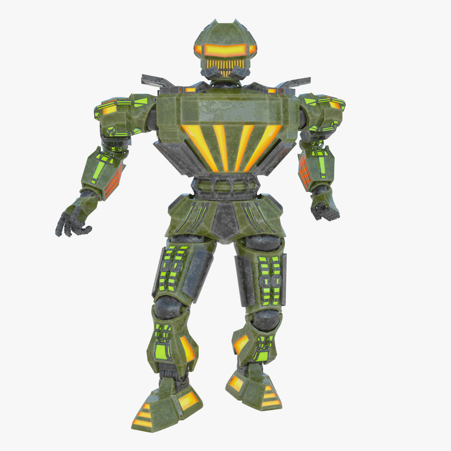 Nuclear Android royalty-free 3d model - Preview no. 1