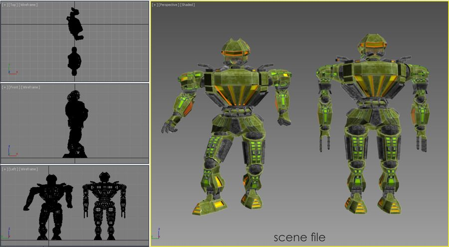 Nuclear Android royalty-free 3d model - Preview no. 21