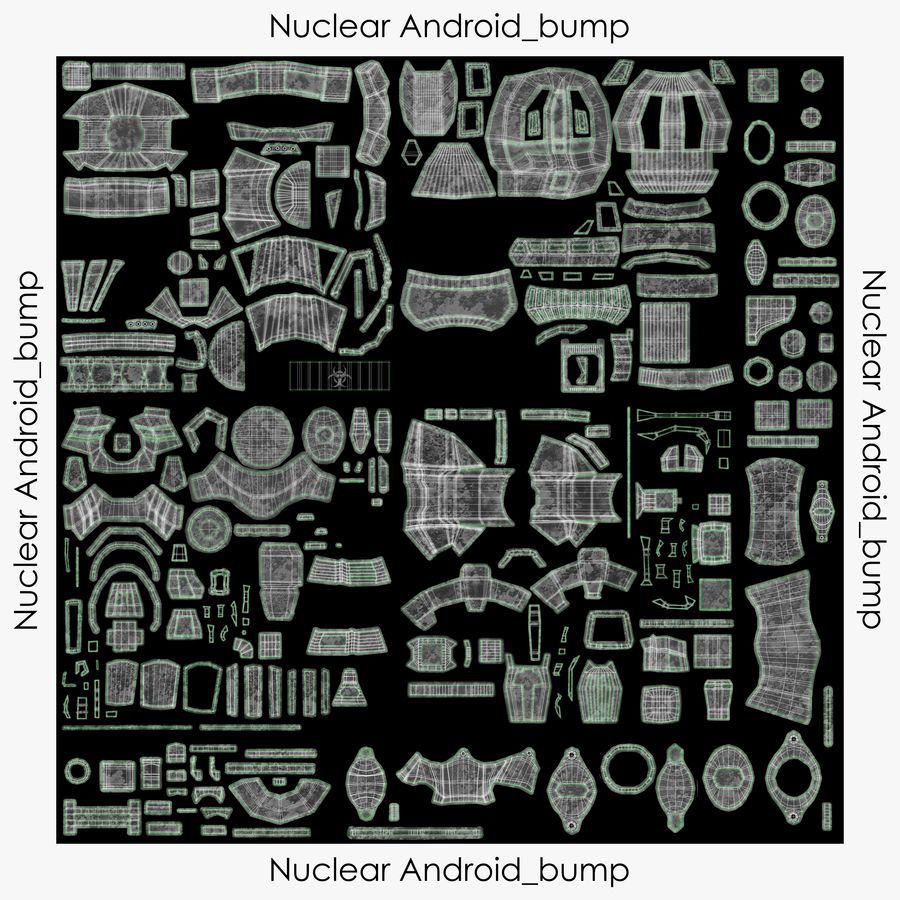 Nuclear Android royalty-free 3d model - Preview no. 20