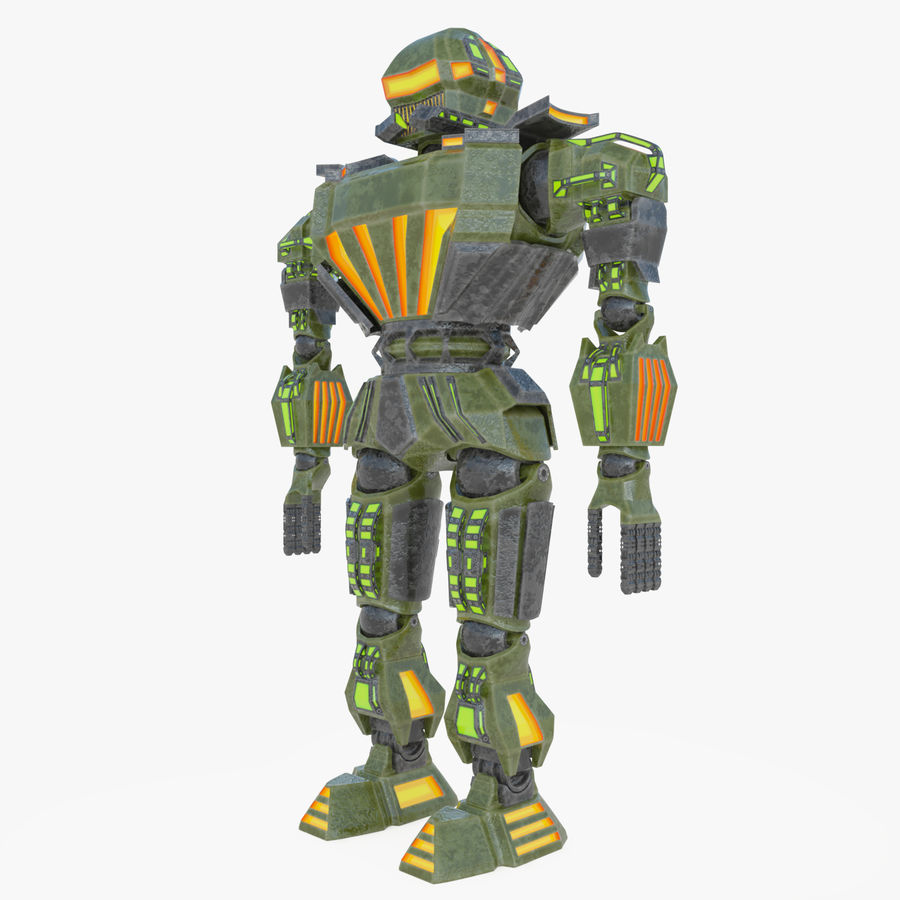 Nuclear Android royalty-free 3d model - Preview no. 8