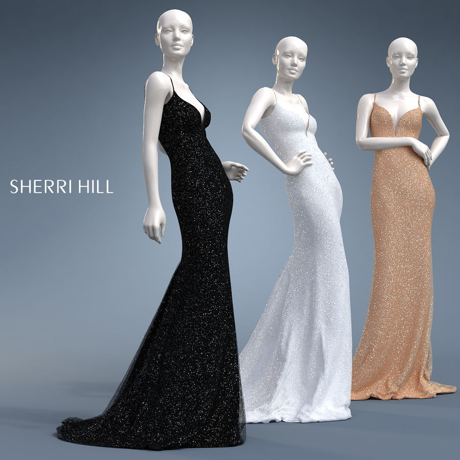 SHERRI HILL 50860 royalty-free 3d model - Preview no. 1