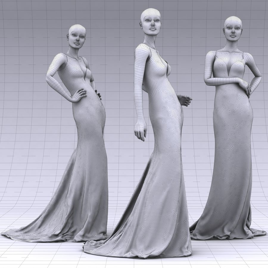 SHERRI HILL 50860 royalty-free 3d model - Preview no. 3