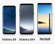 Samsung GALAXY Set 2017 3d model