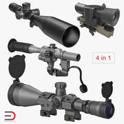 Military Scopes Collection 3d model