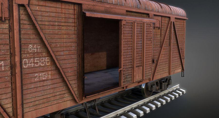Güterwagen royalty-free 3d model - Preview no. 6