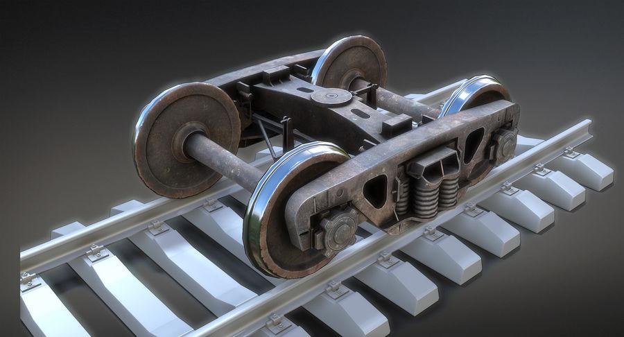 Güterwagen royalty-free 3d model - Preview no. 14