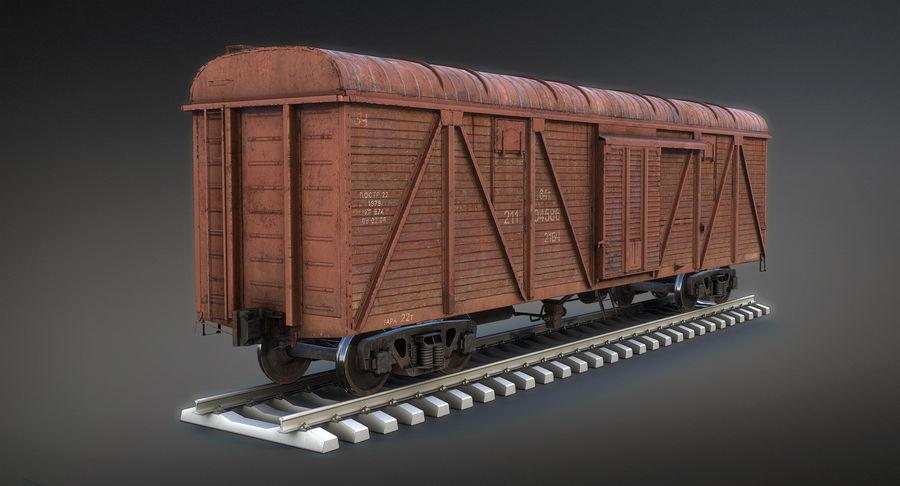 Güterwagen royalty-free 3d model - Preview no. 3