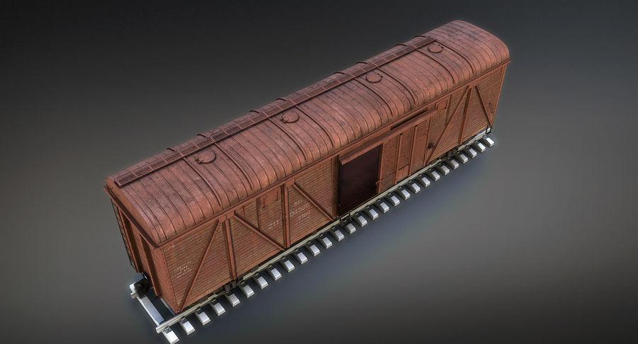 Güterwagen royalty-free 3d model - Preview no. 7
