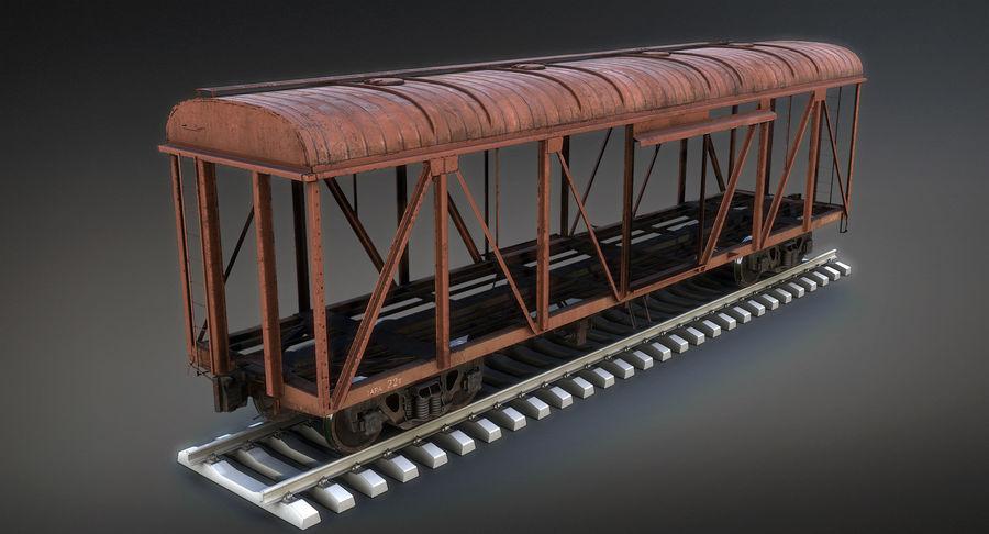 Güterwagen royalty-free 3d model - Preview no. 9