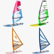 Collection de planche à voile 3d model