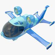 양식화 된 공상 과학 항공기 3d model