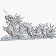 China Dragon Sculpture 1M Raw Scan 3d model