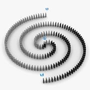 Efecto dominó animado modelo 3d