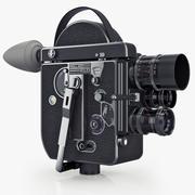 Vintage filmcamera Paillard Bolex 16 mm 3d model