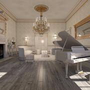 Habitación interior clásica modelo 3d