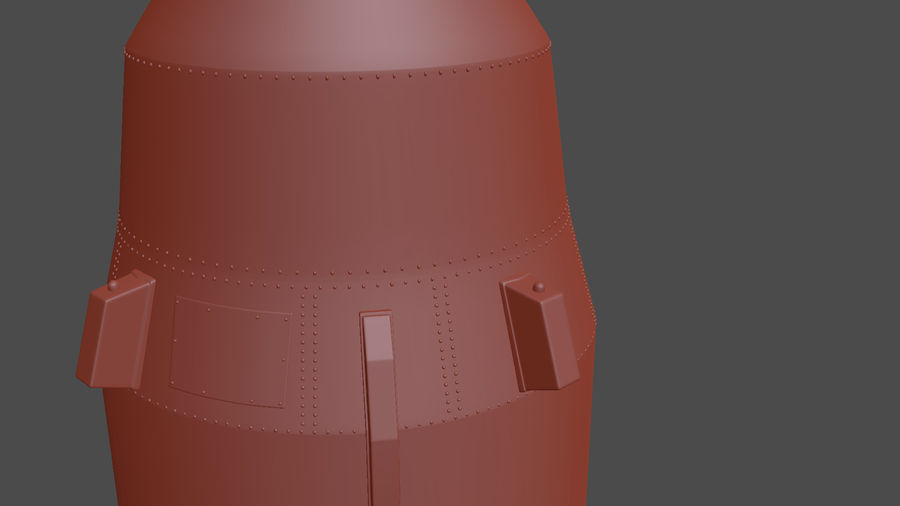 Hwasong-12 Ballistic missile royalty-free 3d model - Preview no. 11