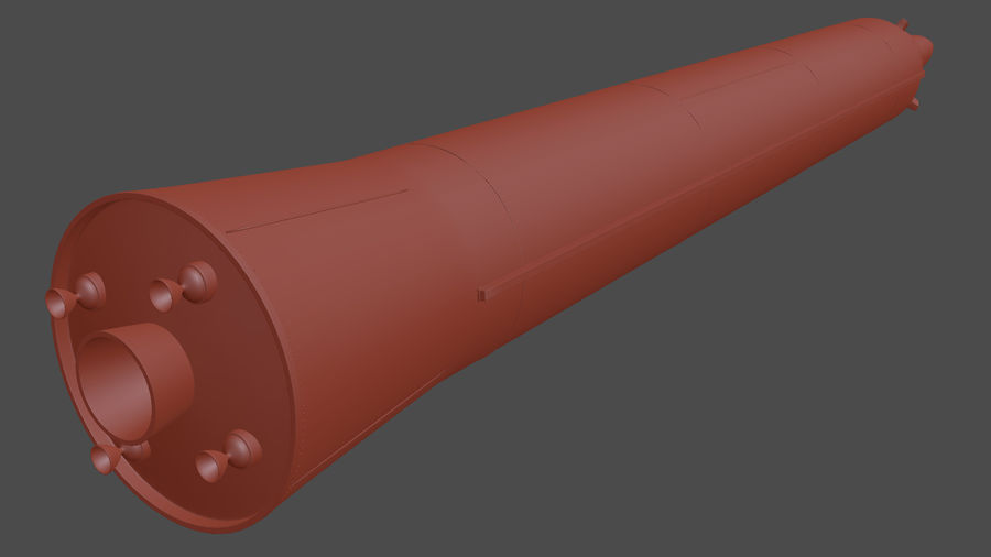 Hwasong-12 Ballistic missile royalty-free 3d model - Preview no. 15