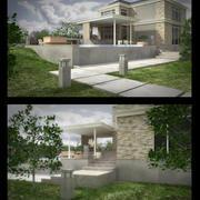 Scena del giorno della casa 3d model