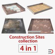 Collezione di cantieri edili 3d model