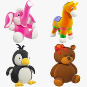 Stuffed Toys Set V1 3d model