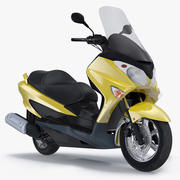일반 스쿠터 오토바이 3d model