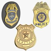 警察バッジ 3d model