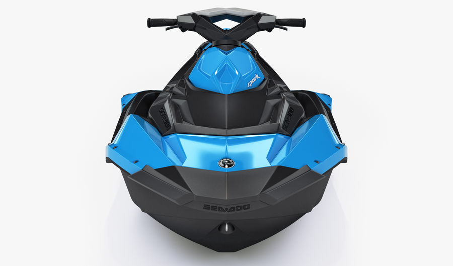 SEA-DOO Spark on Trailer royalty-free 3d model - Preview no. 18
