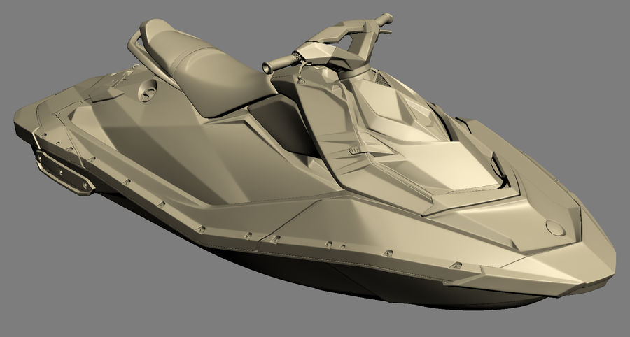 SEA-DOO Spark on Trailer royalty-free 3d model - Preview no. 22