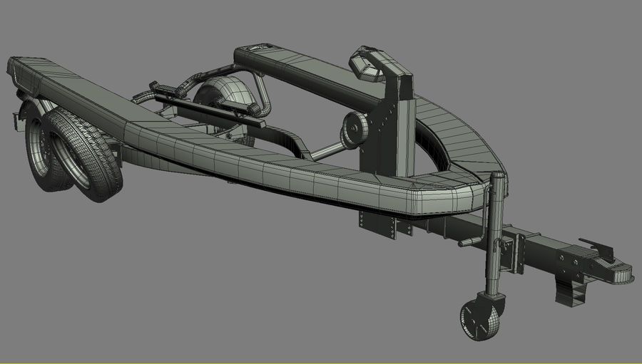 SEA-DOO Spark on Trailer royalty-free 3d model - Preview no. 41