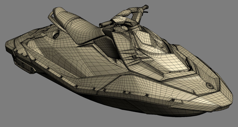 SEA-DOO Spark on Trailer royalty-free 3d model - Preview no. 24