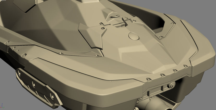 SEA-DOO Spark on Trailer royalty-free 3d model - Preview no. 32