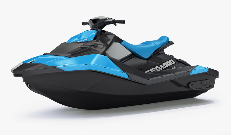 SEA-DOO Spark on Trailer royalty-free 3d model - Preview no. 14