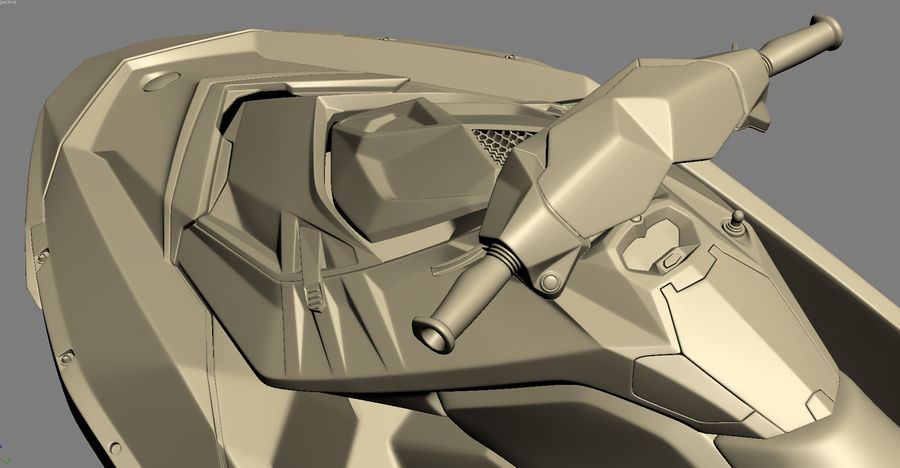 SEA-DOO Spark on Trailer royalty-free 3d model - Preview no. 30