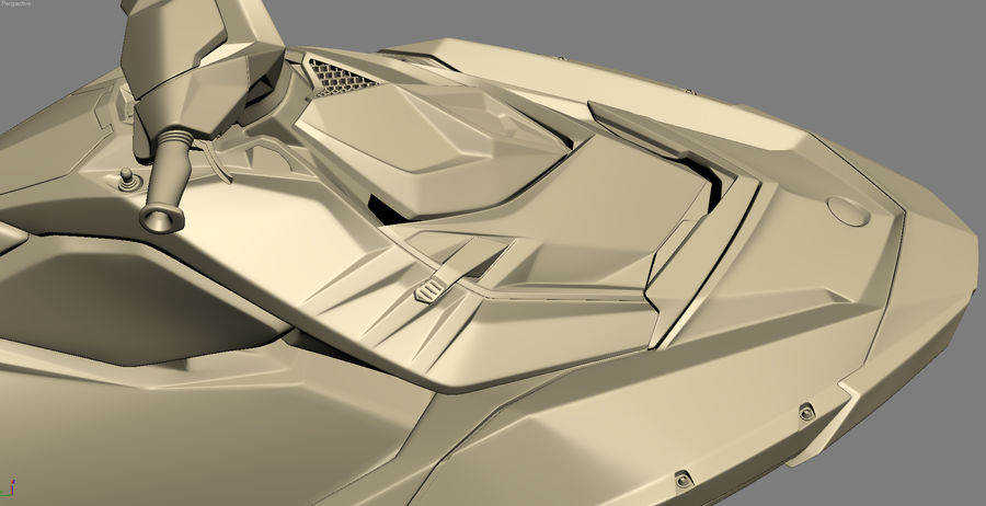 SEA-DOO Spark on Trailer royalty-free 3d model - Preview no. 28