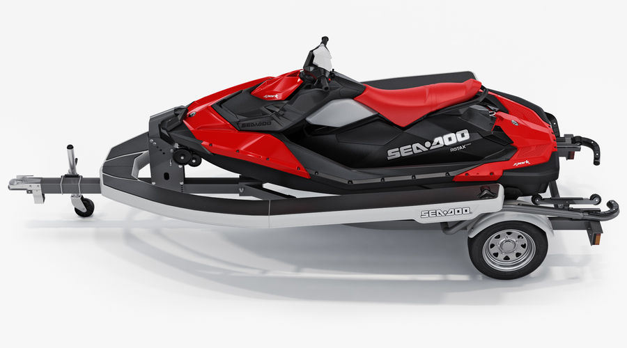 SEA-DOO Spark on Trailer royalty-free 3d model - Preview no. 5